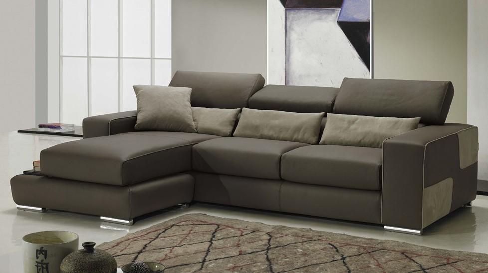 Canapé D'angle Marron Tissu