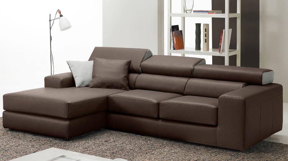 Canapé D'angle Marron