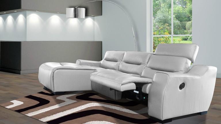 Canapé D'angle Relax Cuir