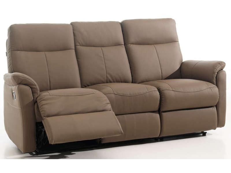 Canape Relax 3 Places Tissu Conforama