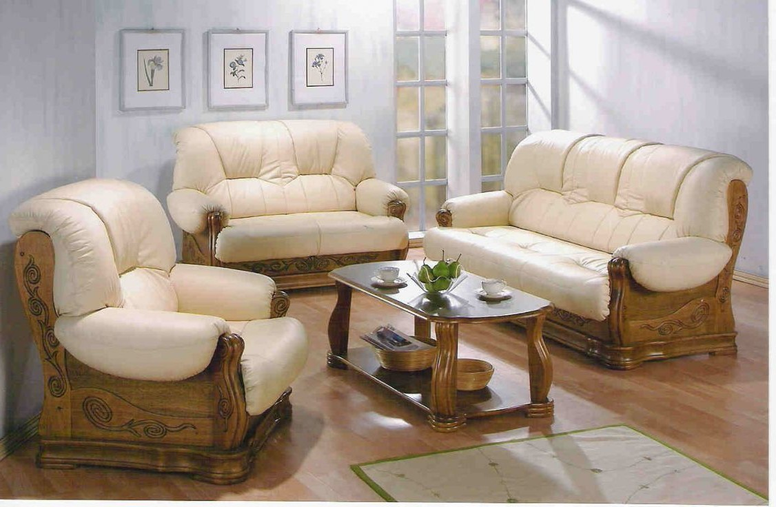 Canape rustique cuir et bois canap id es de d coration de maison a6lyw2 - Salon rustique cuir et bois ...