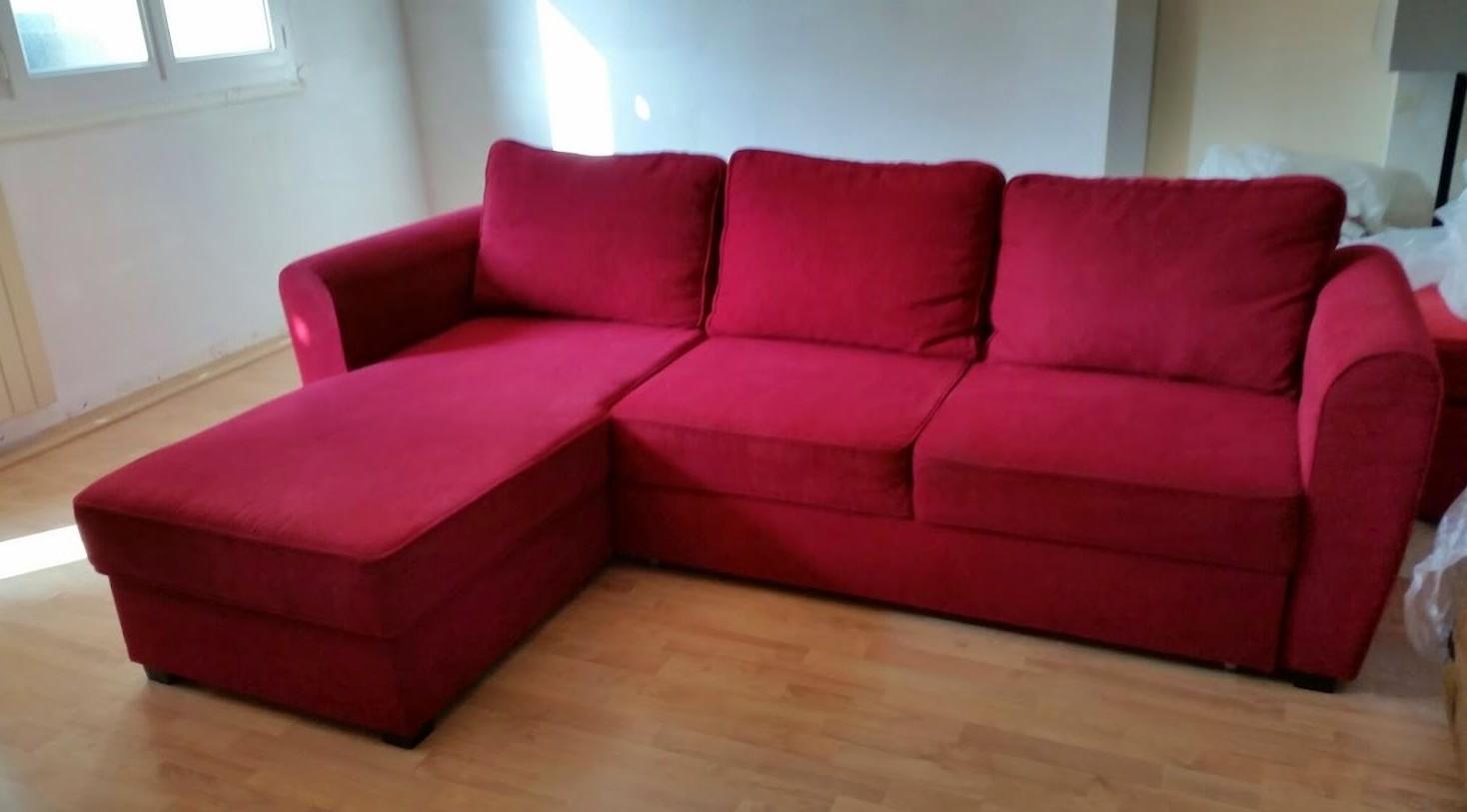 Canape Angle Ikea Rouge