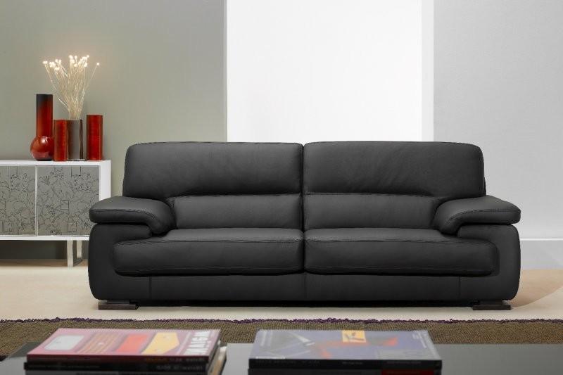 Canape Cuir Noir Luxe