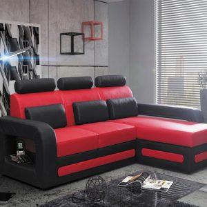 Canape D Angle Rouge Et Noir