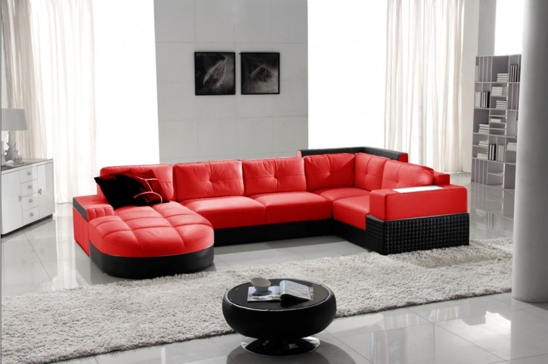 Canape D'angle Rouge Cdiscount