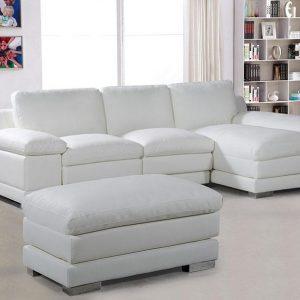 Scoop canap simili cuir d 39 angle gauche blanc canap id es de d corat - Canape blanc simili cuir ...