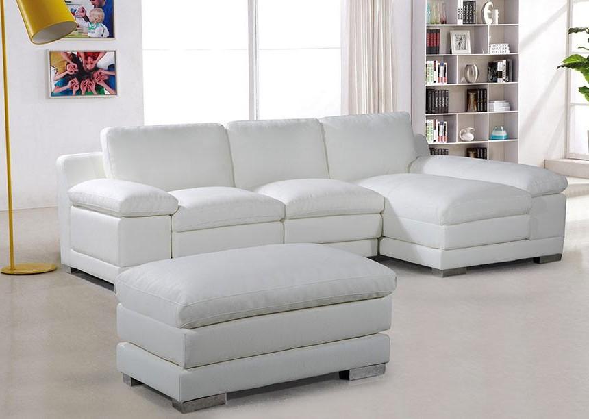 Canape D'angle Simili Cuir Blanc