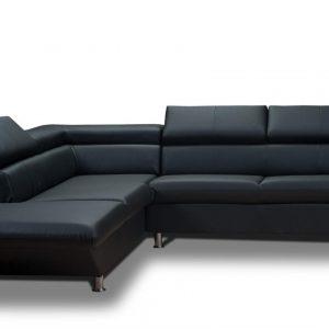 canap d 39 angle simili cuir noir conforama canap id es. Black Bedroom Furniture Sets. Home Design Ideas