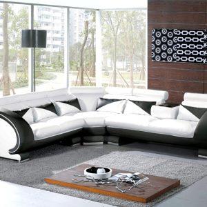 Canape Angle Gris Cuir Center Canapé Idées De Décoration