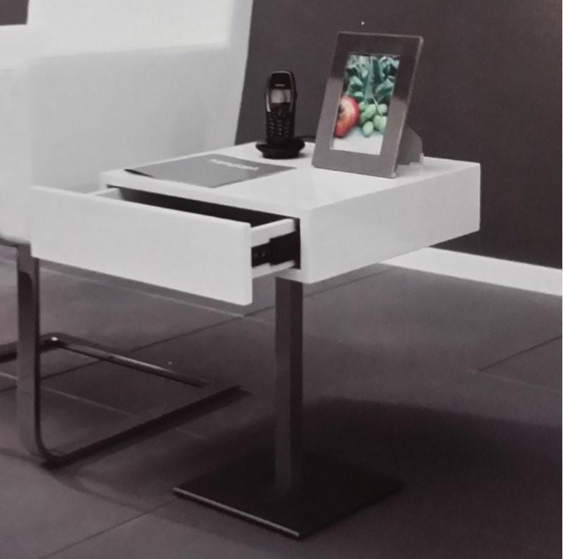 Bout De Canape Design Blanc