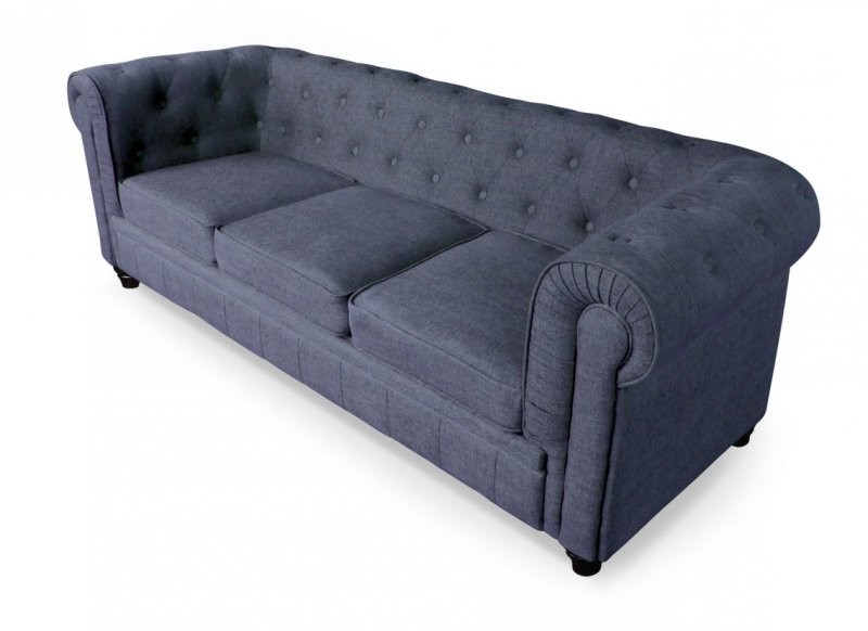 Canapé Chesterfield Convertible Tissu