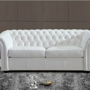 Chesterfield canape cuir buffle blanc canap id es de for Canape chesterfield cuir blanc