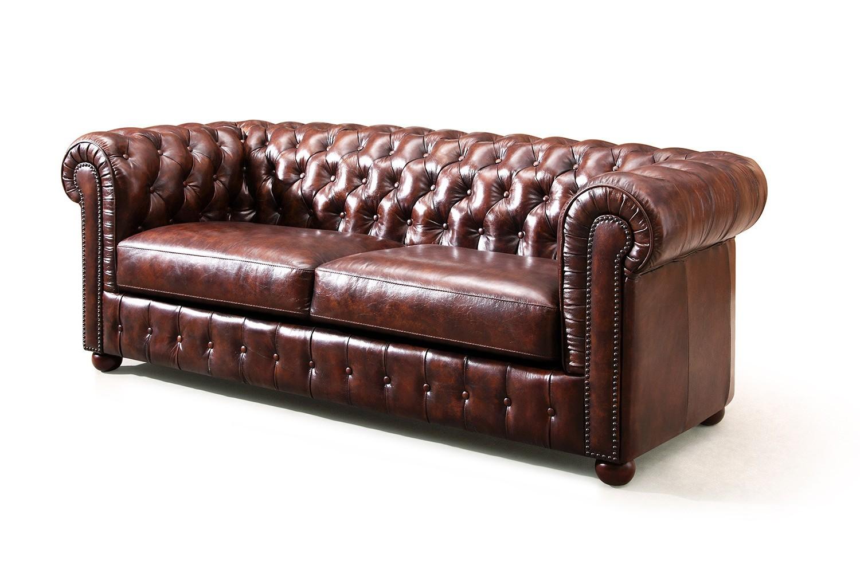Canapé Chesterfield Cuir Vintage