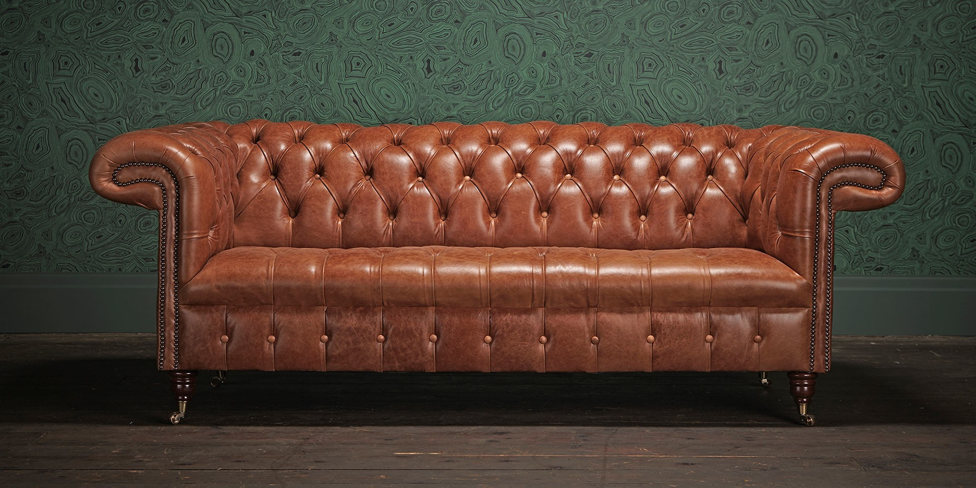Canapé Chesterfield Maroon Convertible