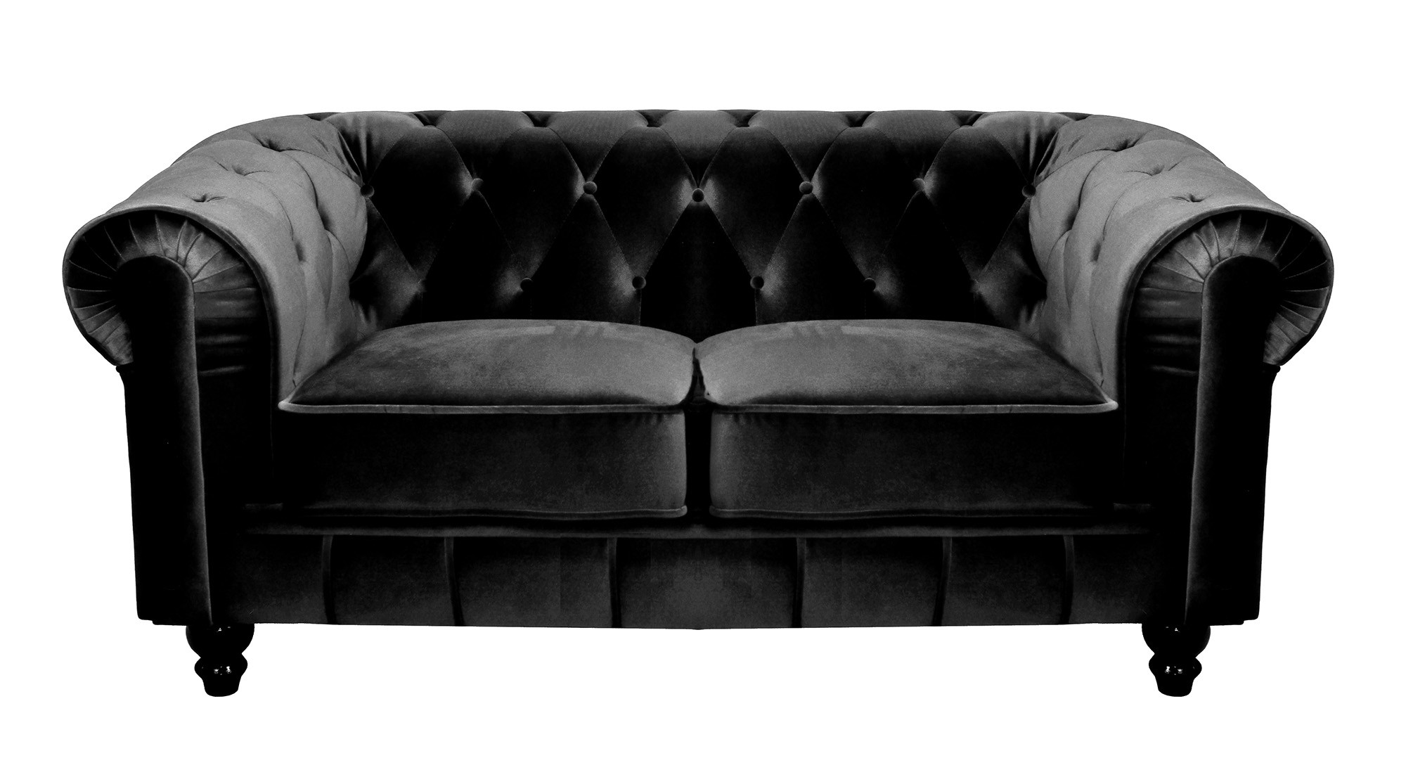 Canape chesterfield velours maison design for Canape velours bordeaux