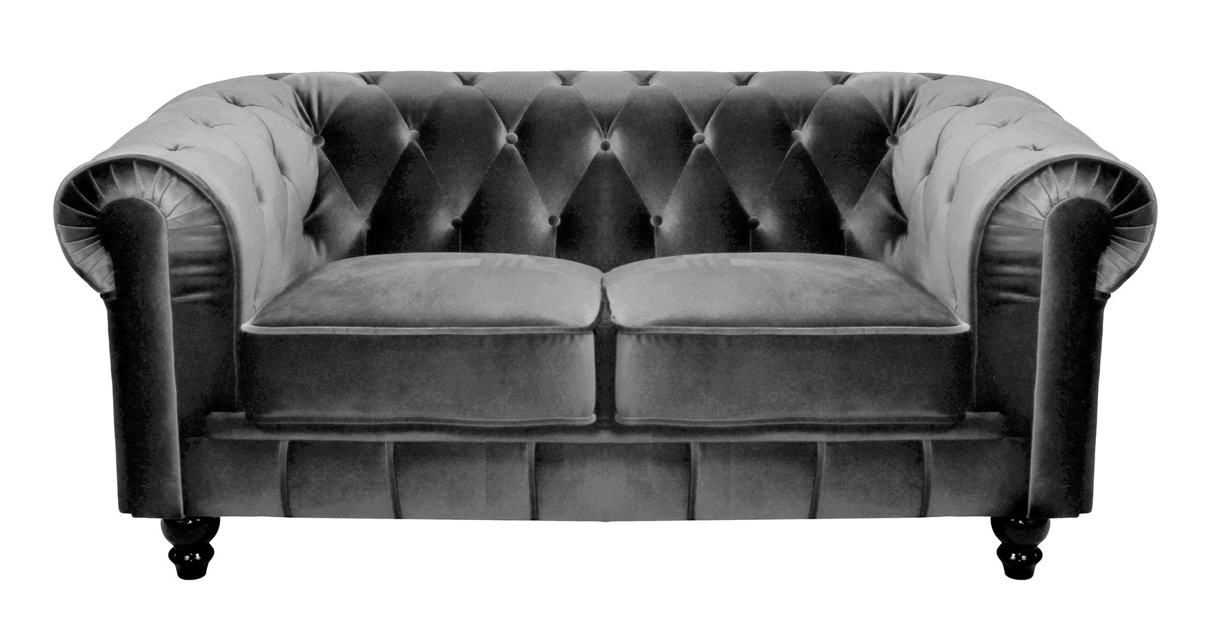 Canapé Chesterfield Velours Beige