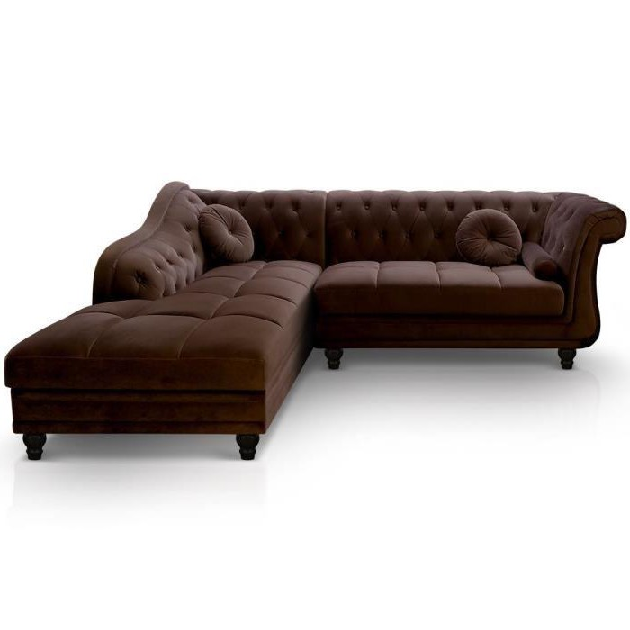 Canapé Chesterfield Velours Marron