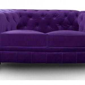 Canapé Chesterfield Velours Prune