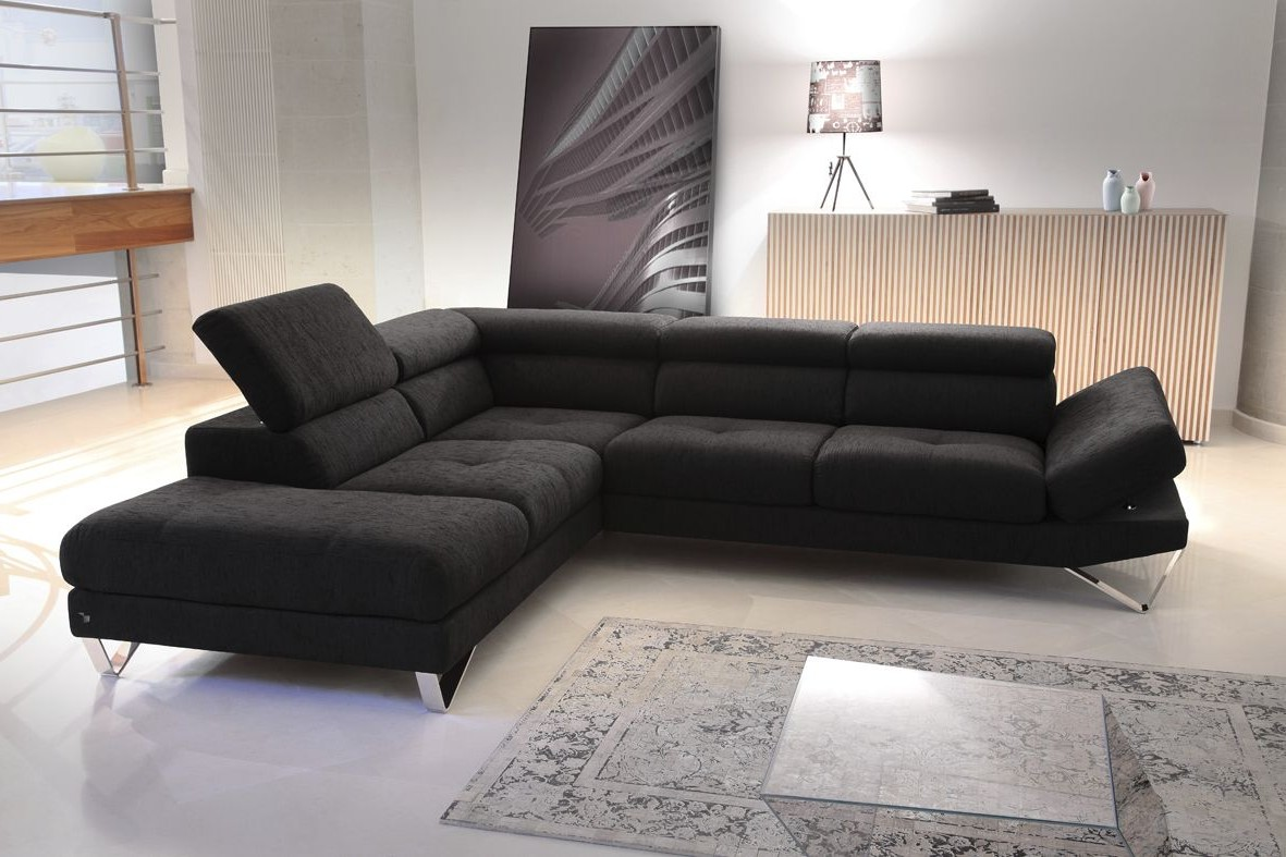 Canap contemporain modulable en cuir canap id es de for Canape cuir contemporain