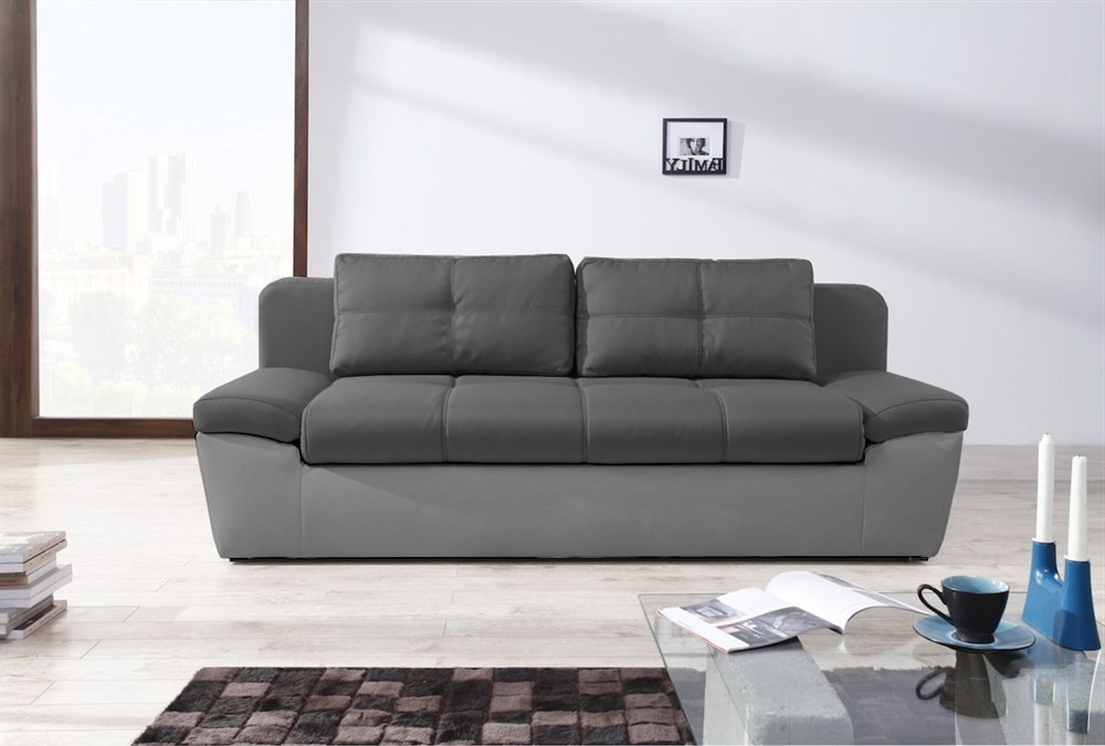 Canapé Convertible 3 Places + Coffre De Rangement