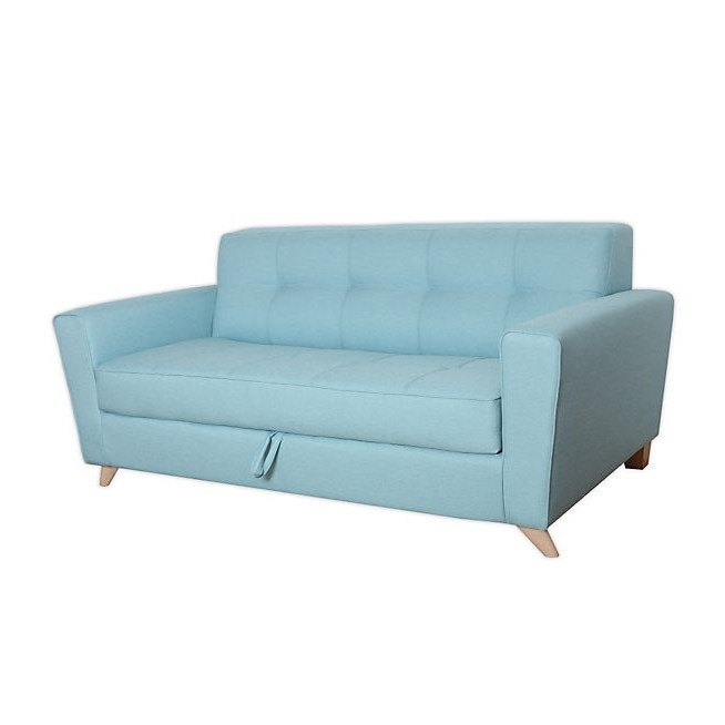 Canapé Convertible Bleu 2 Places
