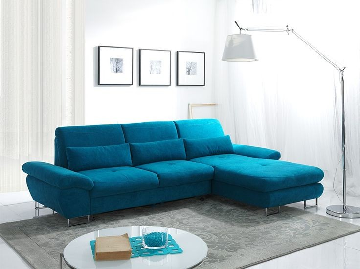 Canapé Convertible Cuir Bleu