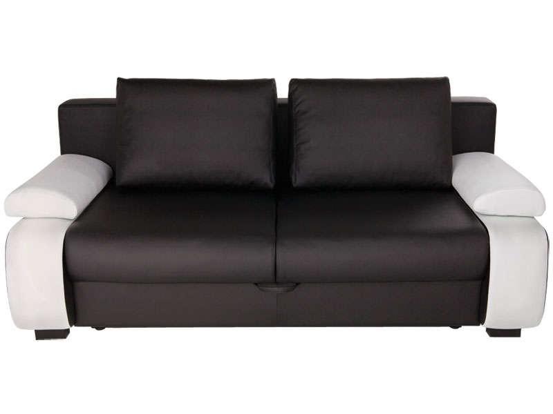 Canapé Convertible Noir Et Blanc Conforama