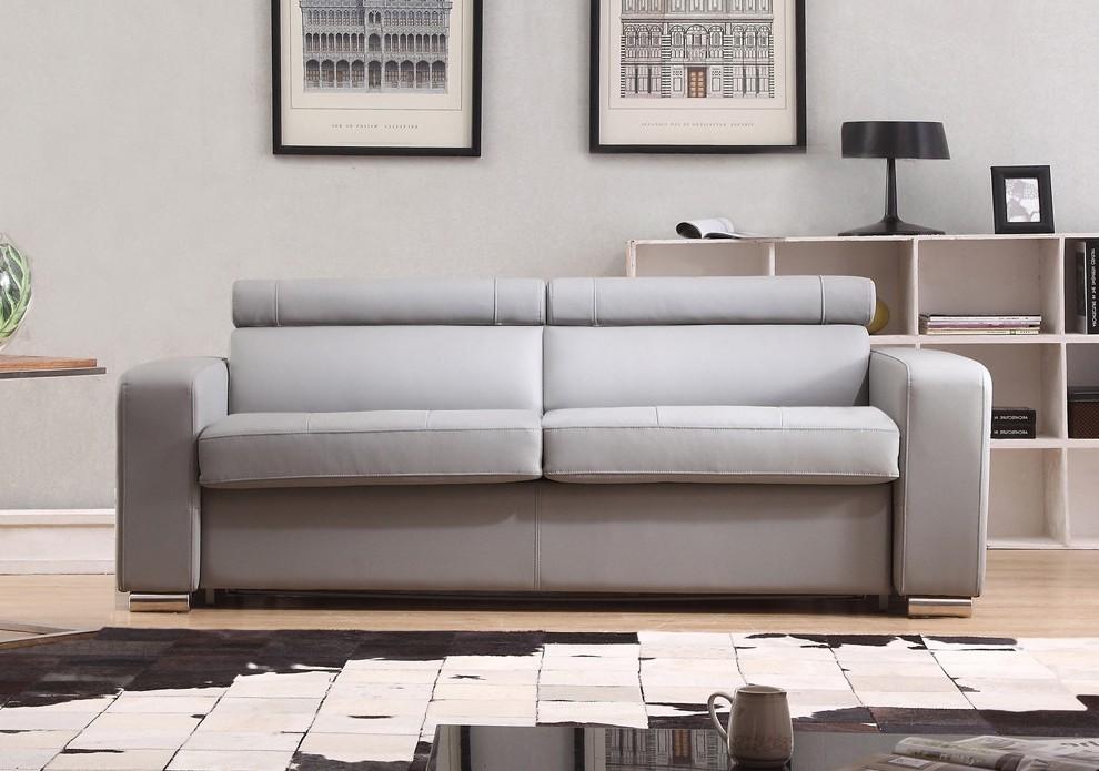 Canapé Convertible Simili Cuir 3 Places