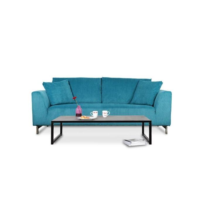 Canapé Convertible Velours Bleu