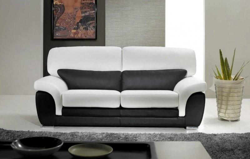 Canapé Cuir Blanc Convertible 2 Places