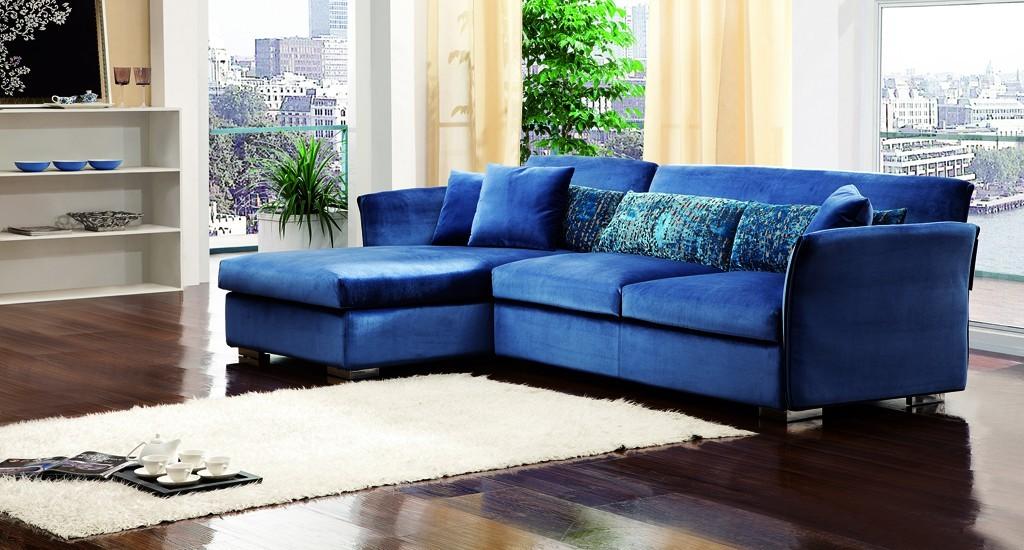 Canapé Cuir Bleu Foncé