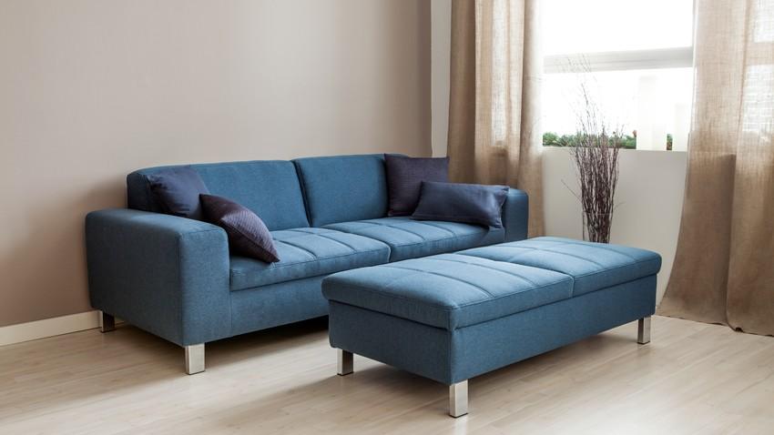 Canapé Cuir Bleu Nuit