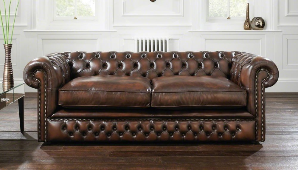 Canapé Cuir Chesterfield Convertible