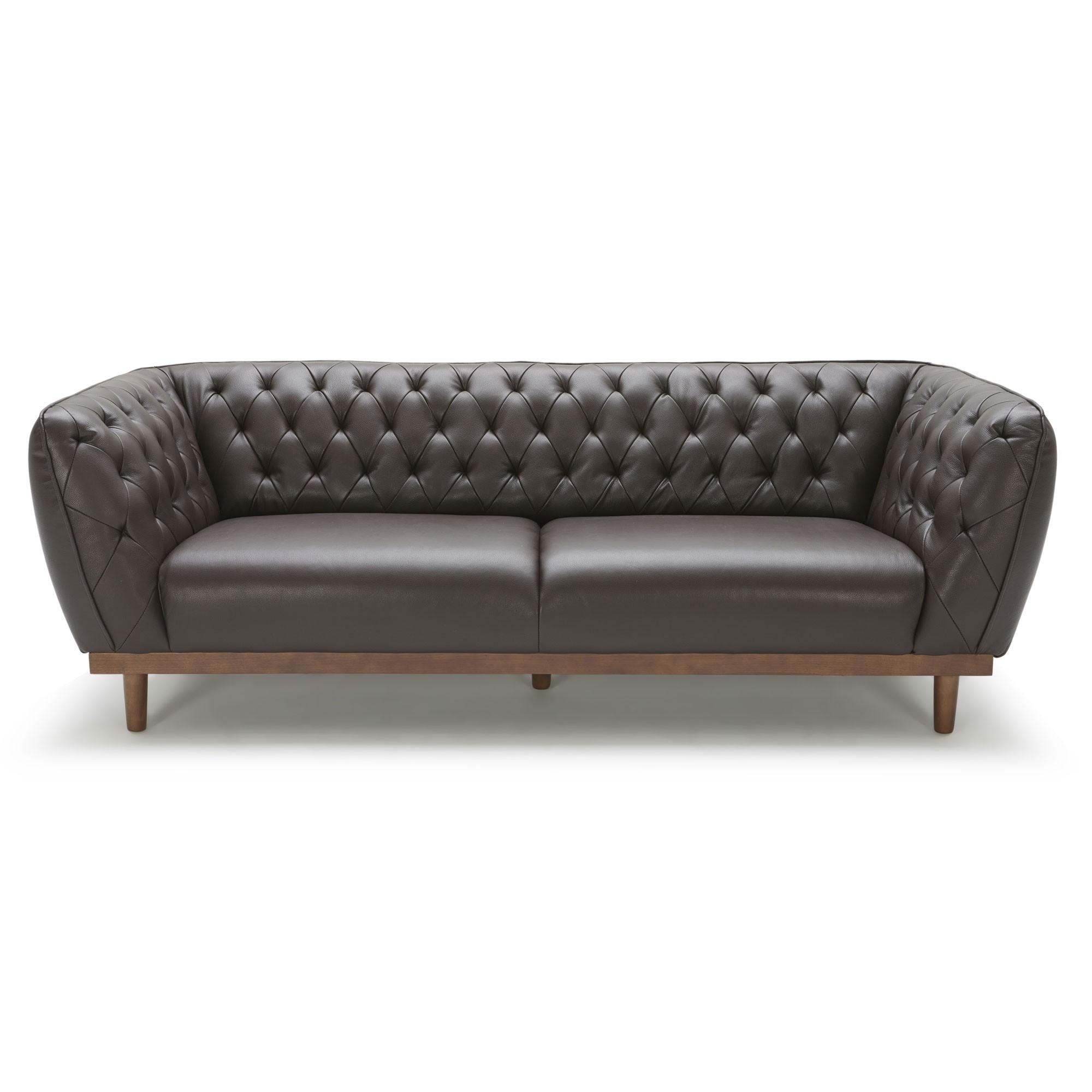 Canapé Cuir Et Bois Design