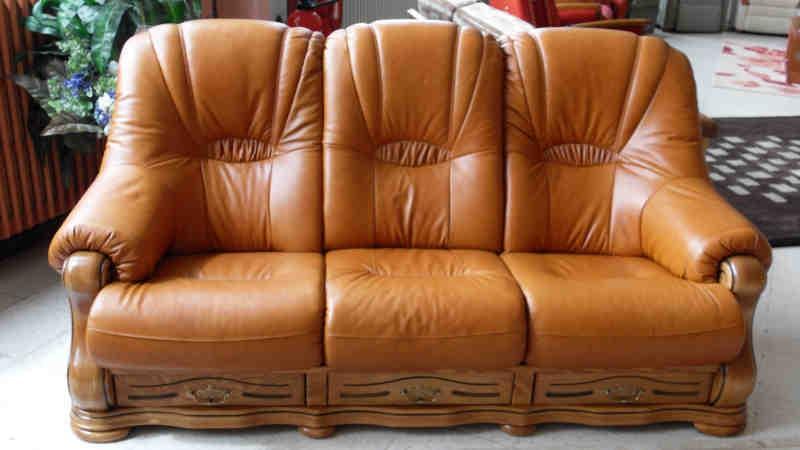 Canapé Cuir Et Bois Rustique Canapé Idées de Décoration de Maison #l2B14l8dz5 # Canapé Cuir Et Bois