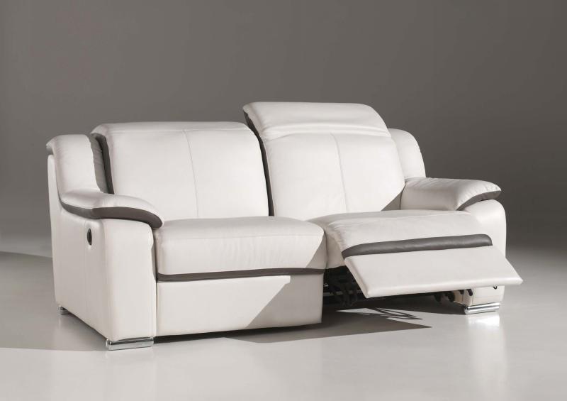 Canapé Cuir Relax Electrique 3 Places