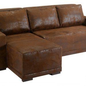 Canap d 39 angle cuir vieilli marron canap id es de - Canape d angle cuir vieilli marron ...