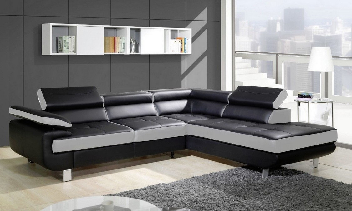 canap d angle convertible simili cuir canap id es de. Black Bedroom Furniture Sets. Home Design Ideas