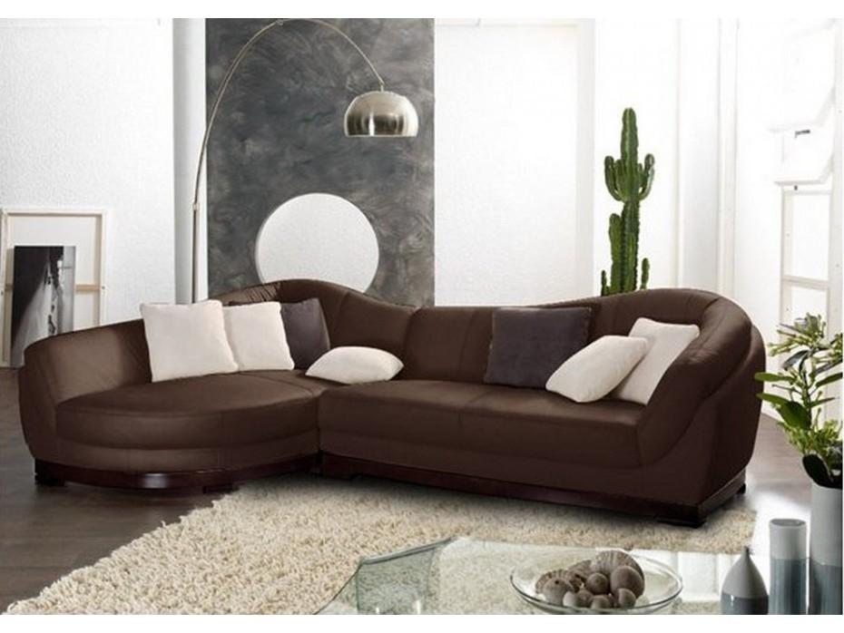 Canapé D'angle 2 Places En Cuir