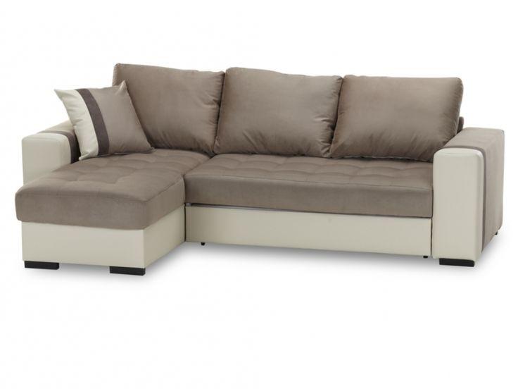 Canapé D'angle Beige Convertible