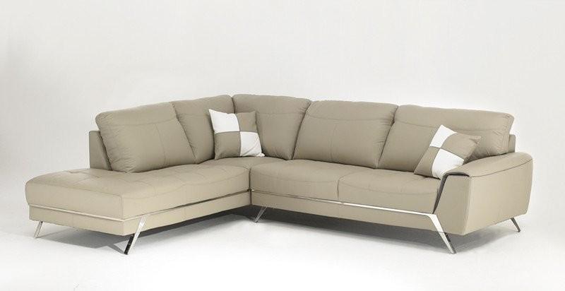 Canapé D'angle Beige Cuir