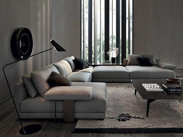 Canapé D'angle Confortable Tissu