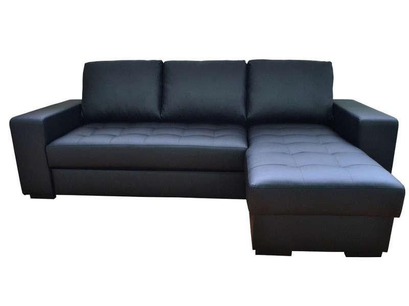 Canapé D'angle Convertible Noir Conforama
