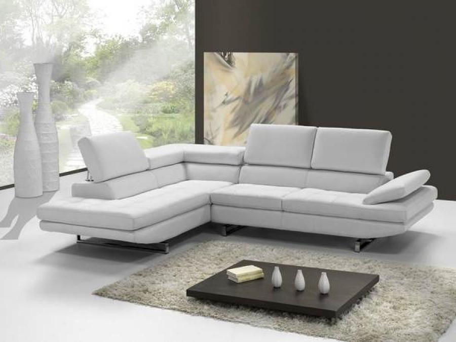 Canapé D'angle Cuir Blanc