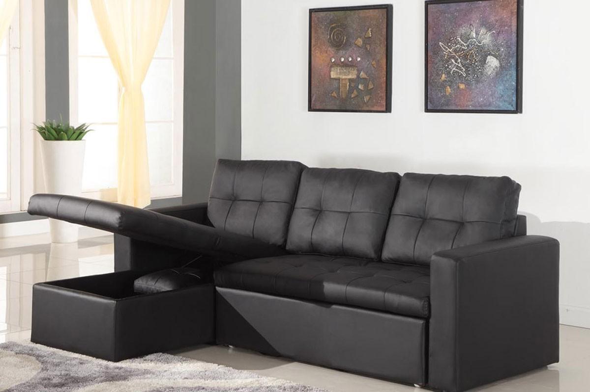 Canapé D'angle Cuir Noir But