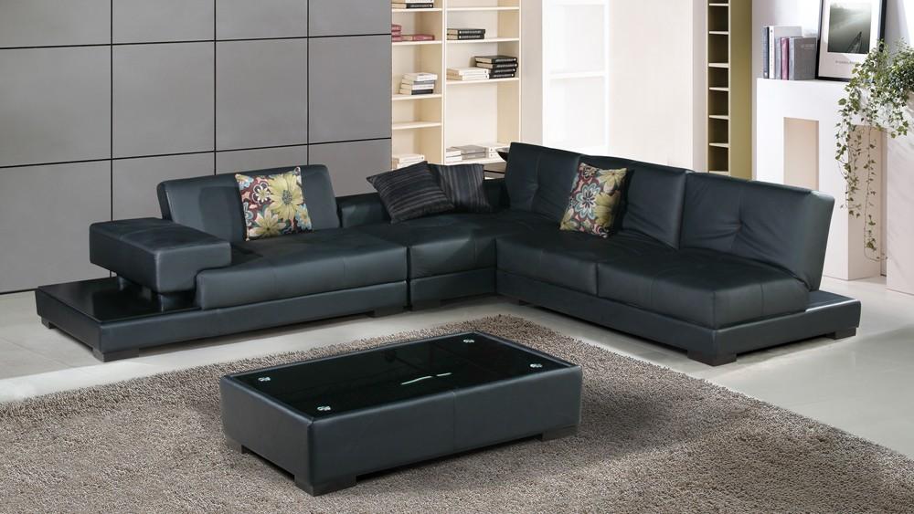 Canapé D'angle Cuir Noir Design