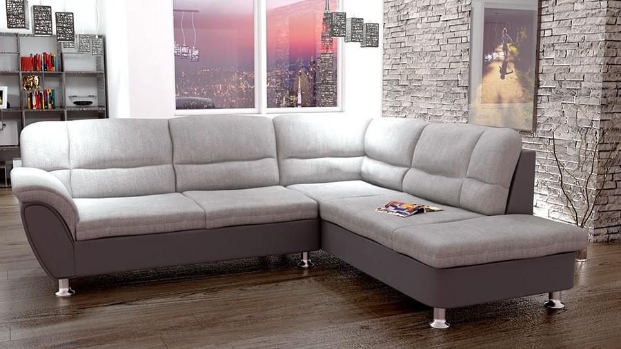 Canapé D'angle En Tissu Convertible
