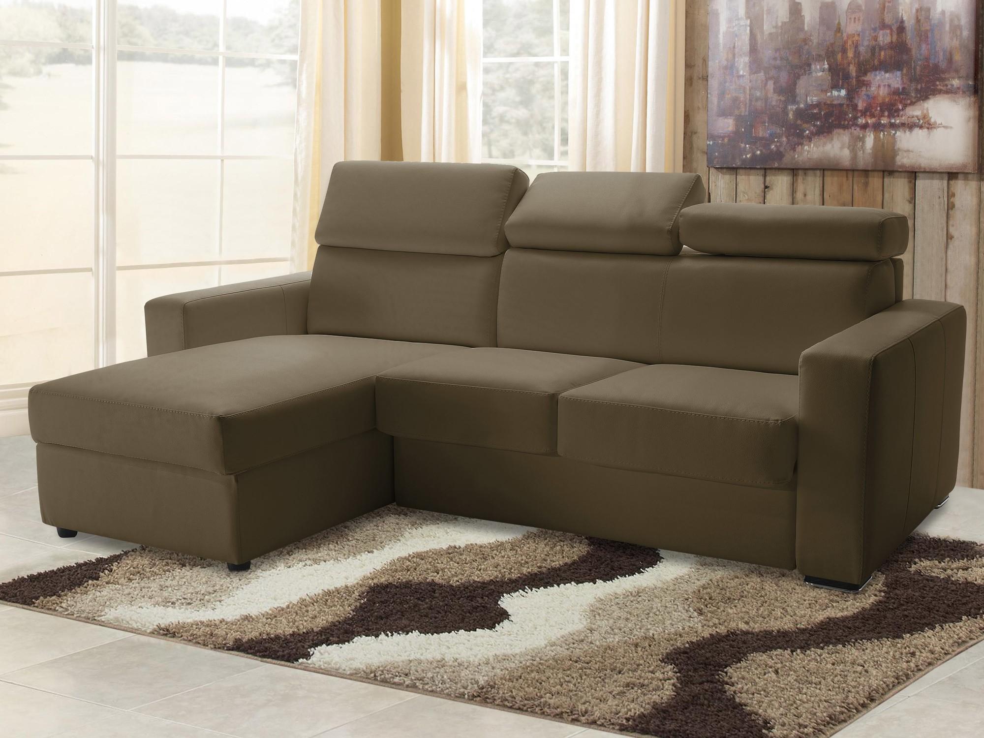 Canapé D'angle Modulable En Cuir Réva