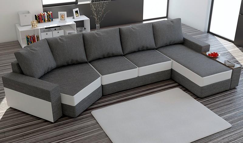Canapé D'angle Panoramique Tissu