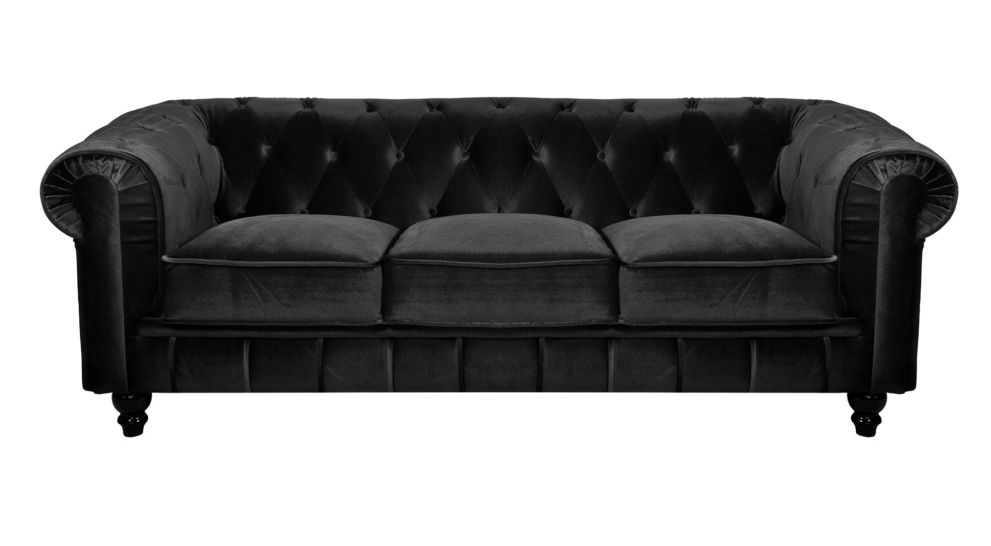 canape convertible chesterfield velours canap id es. Black Bedroom Furniture Sets. Home Design Ideas